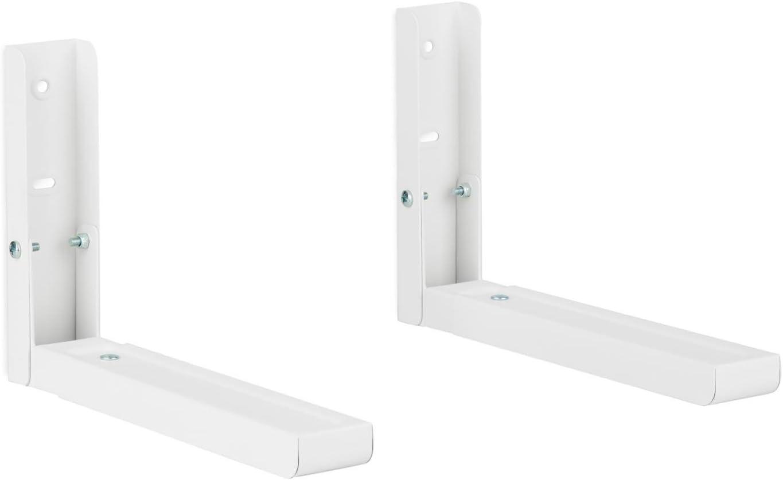 Soporte para microondas (aguanta hasta 35 kg, 42 x 12 x 7 cm) - blanco