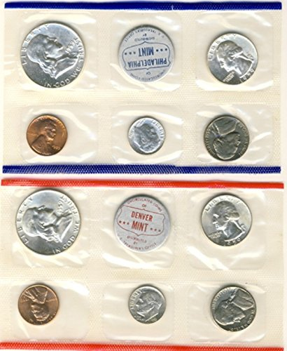 1959 P, D U.S. Mint - 10 Coin Uncirculated Set with Original Governmetn Packaging (1959 Mint Set)