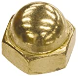 The Hillman Group 150470 Brass Acorn Nuts, 10-32-Inch, 100-Pack