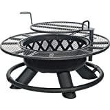 Mosaic Fuego Grande Fire Pit Heavy-duty Metal Cooking Grate That Swivels 360° and Features an Adjustable Height, 29-Inch