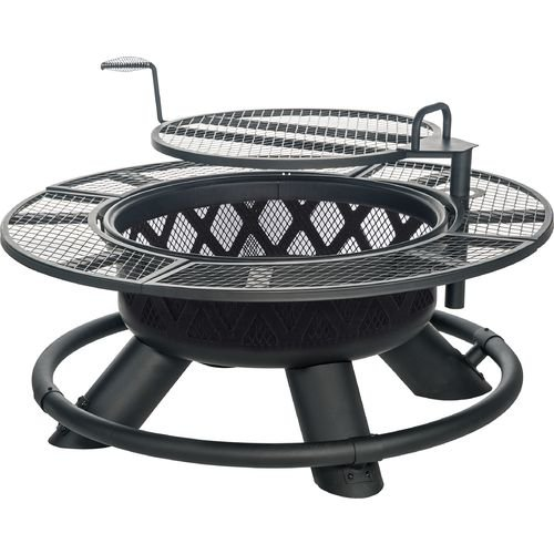 Mosaic Fuego Grande Fire Pit Heavy-duty Metal Cooking Grate That Swivels 360° and Features an Adjustable Height, ()
