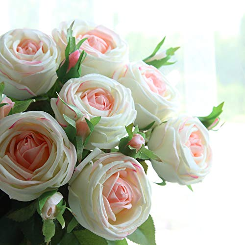 cn-Knight-Artificial-Flower-6pcs-28-Long-Stem-Artificial-Rose-with-Gel-Coated-Silk-Flower-and-Bud-for-Home-Dcor-Wedding-Bridal-Bouquet-Bridesmaid-Centerpiece-Office-Baby-Shower-Pinkish-White
