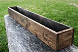 40″ – 50″ Rustic Planters Box (5″ – 5.75″T – Tall Version) For Sale
