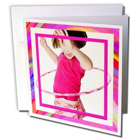 3d Rose 3dRose Set of 12 Greeting Cards, Hula Hoop Girl (...