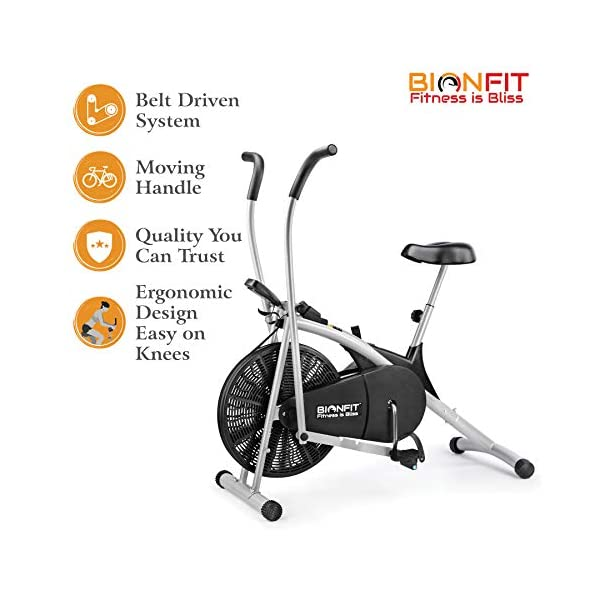 Upright Air Bike Exercise Cycle India 2021 with Dual Moving Arms | Review 2