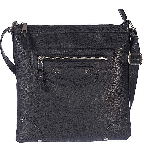 Zip Club Rochelier Pocket Crossbody Front Black 8wxvw1
