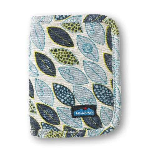 KAVU Frauen Zippy Wallet Blue Leaf