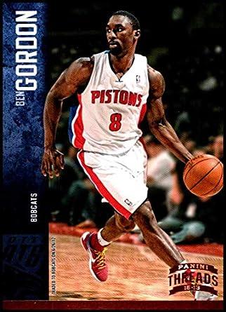 a6f5dbb1320f Amazon.com  2012-13 Panini Threads  39 Ben Gordon NM-MT Charlotte Bobcats  Official NBA Basketball Card  Collectibles   Fine Art