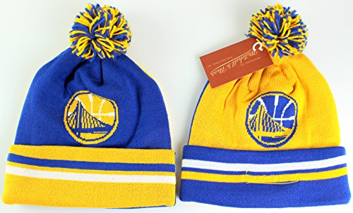 Buffalo Sabres Shoes (Mitchell & Ness NBA Change Up 2 Faced Cuffed Knit with Pom Hat (One Size, Golden State Warriors))