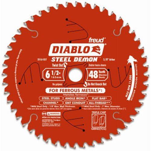 Freud Diablo D0648F 6-1/2-Inch 48-Tooth Steel Demon