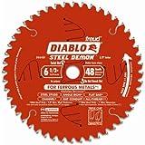 """Freud Diablo D0648F 6-1/2"""" x 48-Tooth Steel Demon TCG Ferrous Cutting Circular Saw Blade 5/8"""" Arbor"""