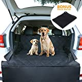CCJK Pet Cargo Cover & Liner Dog, Waterproof Machine Washable & Nonslip Backing Free Pet Barrier Universal Fit Cars SUV Trucks,Underside Grip,Durable,Large Back Seat Cover Protector(Black,XL) For Sale