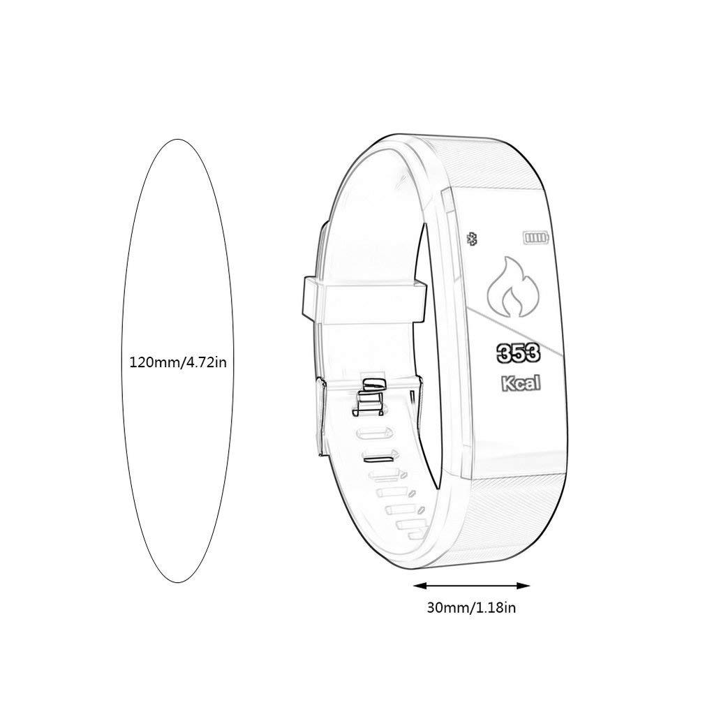 Leoboone ID115Plus BT4.0 Smart Bracelet Waterproof Wristband Heart ...