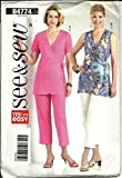 Butterick B4774 See & Sew Women's Top and Crop Pants Sewing Pattern - Size B (16-18-20-22)