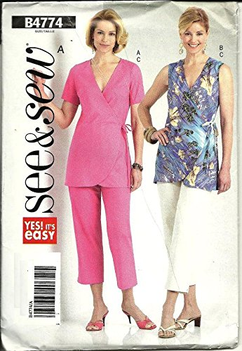 Butterick B4774 See & Sew Women's Top and Crop Pants Sewing Pattern - Size B (16-18-20-22) by See & Sew
