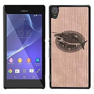 Funda Cubierta Madera de cereza Duro PC Teléfono Estuche / Hard Case for Sony Xperia T3 / Phone Case TECELL Store /