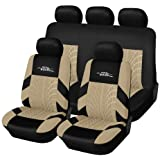 AUTOYOUTH capas de assento de carro de ajuste universal conjunto completo protetores de assento de carro pneu trilhas assento