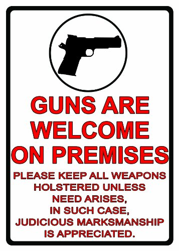 REP Guns Are Welcome Tin Sign ()