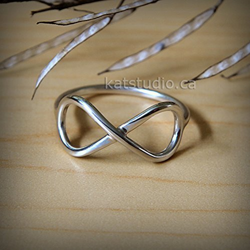 sterling silver infinity ring silver infinity ring promise ring love ring best friend ring Jewelry Katstudio Infinity Ring Sterling Silver 925