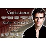 Signs 4 Fun NVID3 Vamp Diaries Stefan's Driver's