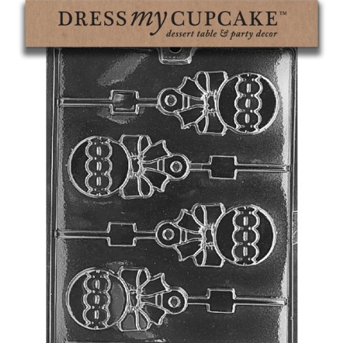 Dress My Cupcake Chocolate Candy Mold, Rattle Lollipop, Baby Shower]()