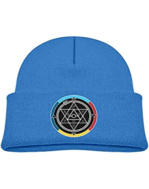 Kids Funny Alchemy Symbol Star Of David Casual Flexible Winter Knit Hats/Ski Cap/Beanie/Skully Hat Cap