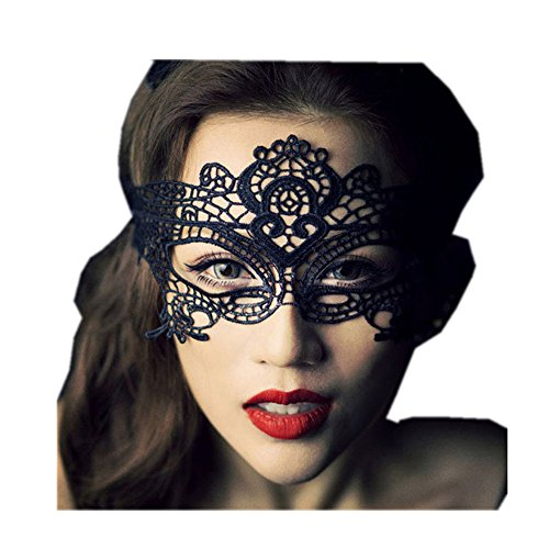 Star Han Sexy lace hollow-out nightclub fashion eye mask for masquerade parties (Jelly Bean Halloween Costume)