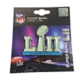 "2018 Super Bowl Lii 52 Anniversary Primary Logo 1.5"" Champions Lapel Pin Media Day Opening Night"
