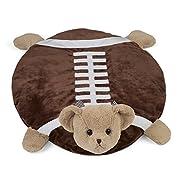 Bearington Tuchdown Football Teddy Bear Belly Blanket, Baby Mat, Tummy Time Mat 30  x 30