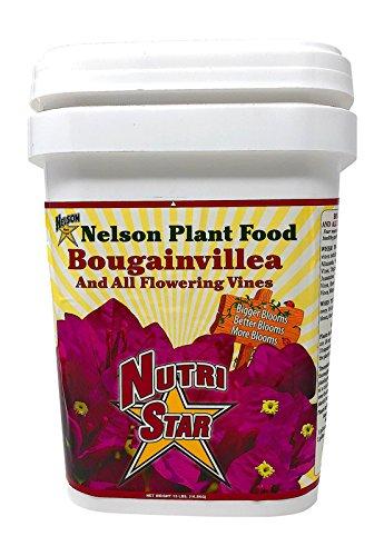Nelson Bougainvillea & All Flowering Vines Food Trumpet Wisteria Jessamine Honeysuckles Indoor Outdoor Granular Fertilizer NutriStar 17-7-10 (15 LB)