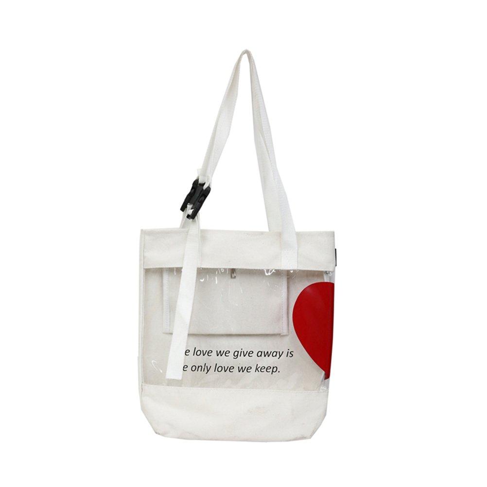 f8dd74c4f7ee Amazon.com: Chic Cotton Canvas Tote Bag Purse Shoulder Bags Bookbag ...