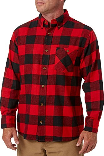 Field & Stream Men's Classic Lightweight Flannel Long Sleeve Shirt (Cls Buf Pom Red, S) ()