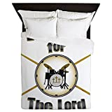 CafePress - Drumming For The Lord - Queen Duvet Cover, Printed Comforter Cover, Unique Bedding, Microfiber
