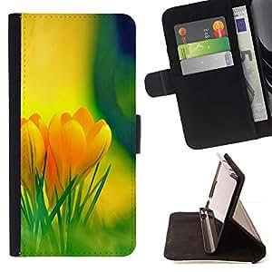 Momo Phone Case / Flip Funda de Cuero Case Cover - Flores amarillas;;;;;;;; - Samsung Galaxy S6