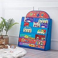 SAND MINE Kids Storage Bookshelf, Baby Room Bookcase, Classroom Book Organizer Display Magazine Rack Holder