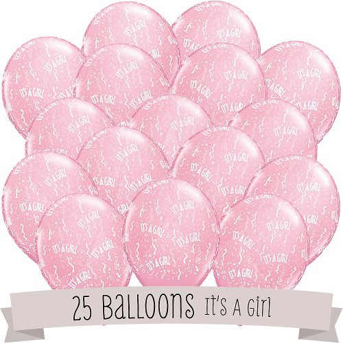 It's A Girl! - Baby Shower Balloons - 25 ct]()