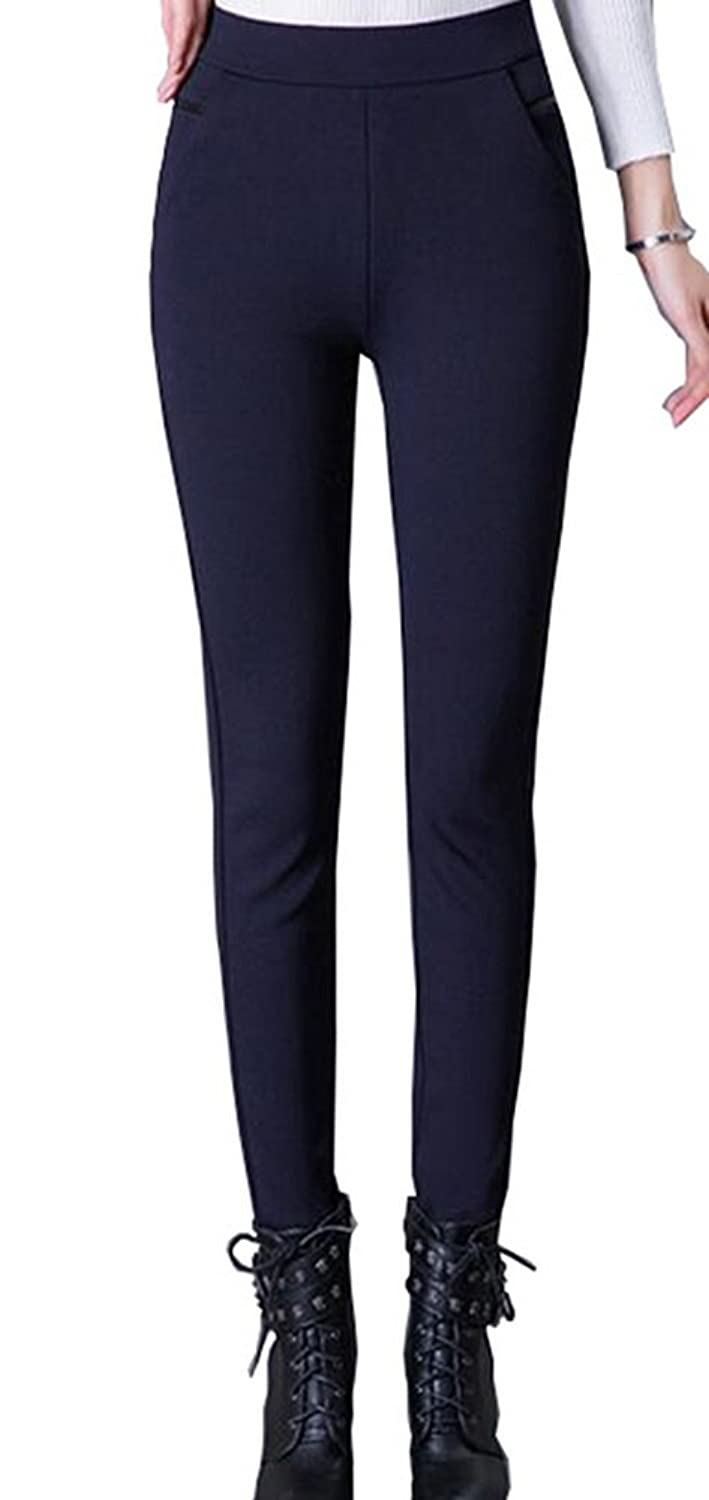 Foucome Dress Pants for Women-Slim Bootcut Stretch High Waist Trousers with All