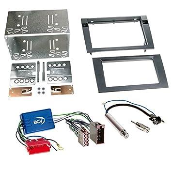 Einbauset DIN Autoradio Audi A4 B6 00 04 Aktivsystem Mini ISO