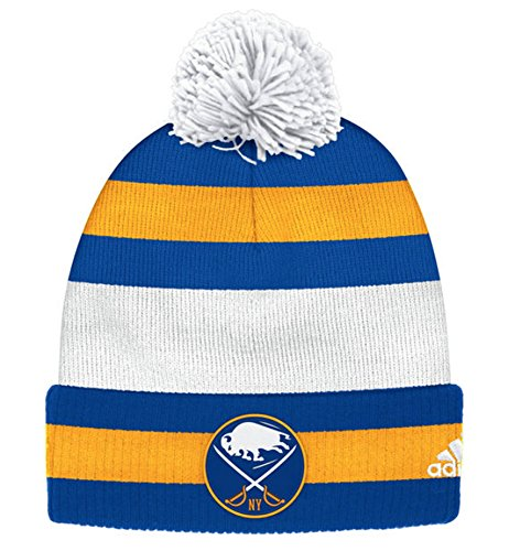 Buffalo Sabres 2018 Winter Classic Cuffed Pom Knit Players Adidas Hat