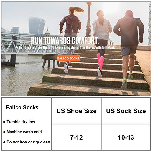 Eallco Mens Ankle Socks Low Cut Athletic Cushioned Running Tab Socks 6 Pack