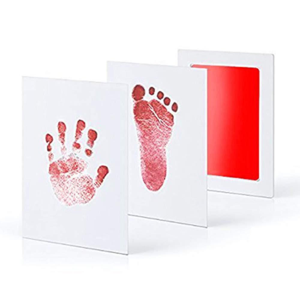 Myhonour Baby Fu/ß oder Hand-AbdrucksetCleanTouch Stempelkissen mit 2 hochwertigen Druckkarten Inkless-Touch-Print I Frei von Farbkontakt I Blau