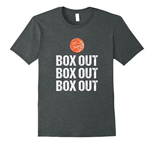 Mens Funny Basketball Coach Tshirt Box Out Quote Grunge Graphic 3XL Dark Heather
