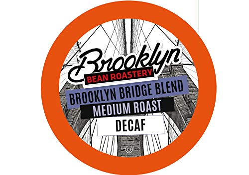 Brooklyn Beans Brooklyn Bridge Decaf Coffee Pods, Compatible with 2.0 K-Cup Brewers, 40 Count ()