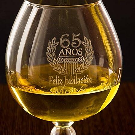 Regalo personalizable para cumplea/ños Copa de brandy grabada con el nombre Copa de co/ñac cumplea/ños edad y dedicatoria que t/ú elijas.