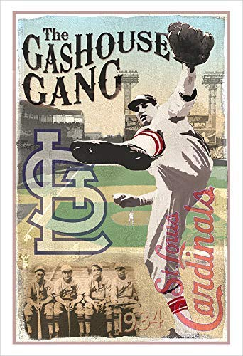 The Gashouse Gang - 1934 St. Louis Cardinals poster print by delovely - Baseball 1934