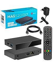 MAG 520w3 Original Infomir & HB-DIGITAL 4K IPTV Set TOP Box Multimedia Player Internet TV IP Receiver # 4K UHD 60FPS 2160p @60 FPS HDMI 2.0# HEVC H.256 Ondersteuning # ARM Cortex-A53 + HDMI-kabel