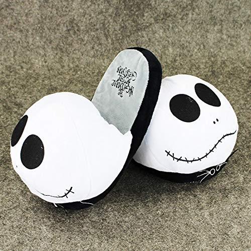 (CHITOP America Cartoon -The Nightmare Before Christmas -Slipper Cute Jack Skellington Plush Slipper 37CM Stuffed Shoes)