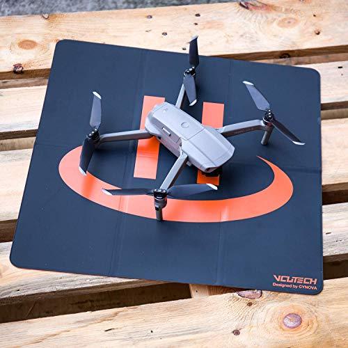 VCUTECH Drone Landing Pad Pro Fast-Fold Double-Sided Waterproof 20 inch(50cm) Compatible with DJI Mavic Air 2, Mavic Mini 2, Mavic 2 Pro/Zoom, DJI FPV, Drone Accessories(Black)