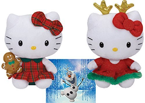 Ty Beanie Babies Hello Kitty Ginger Bread and Raindeer 8