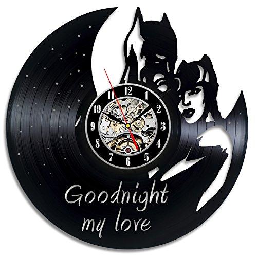 Old School Batman Robin Costumes - Batman And Catwoman Comics Vinyl Record Clock Wall Art Home Decor
